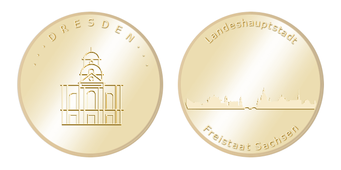 Gedenkmünze – Dresden