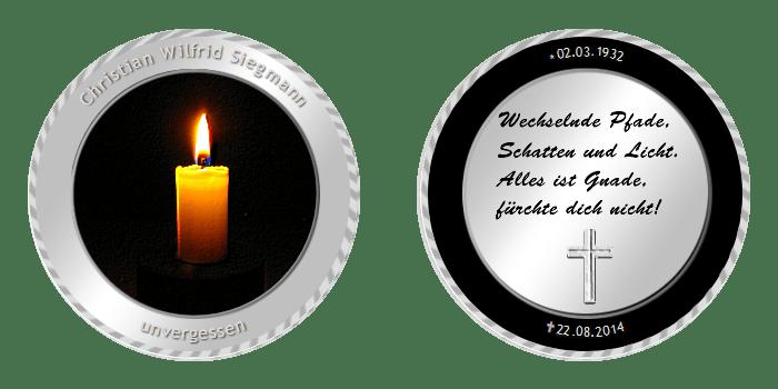 Trauermünzen – Zum Gedenken